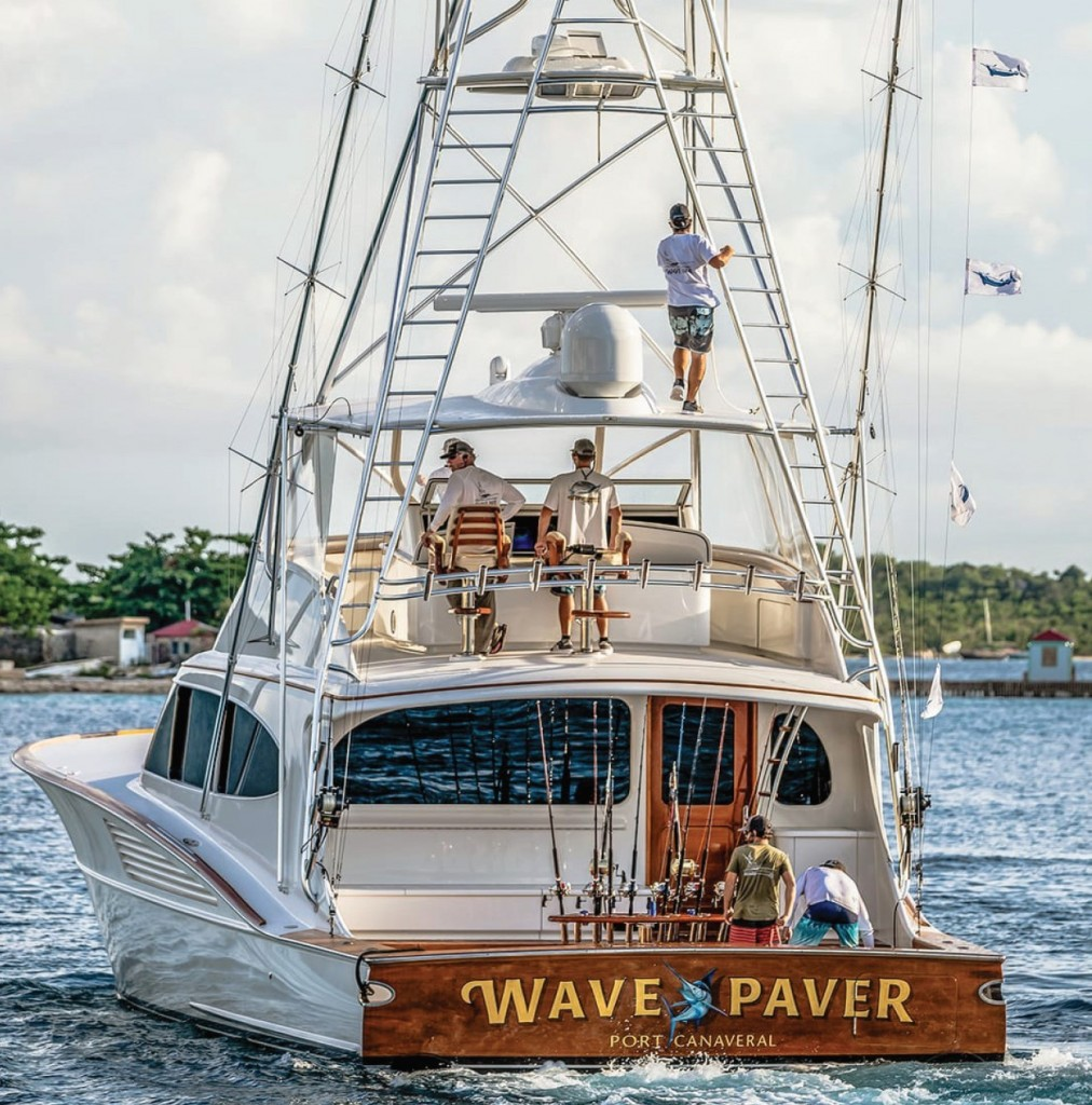 wave paver crew on the water