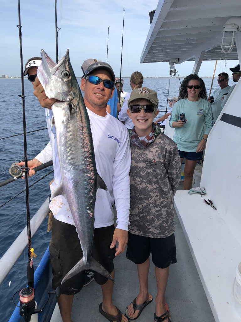 Kingfish caught on the drift with a sardine