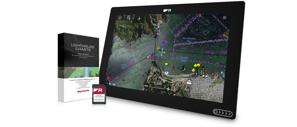 Raymarine Announces New LightHouse Charts for Axiom and Element Series Displays