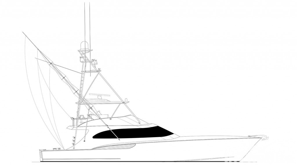 drawing of a sportfishing boat
