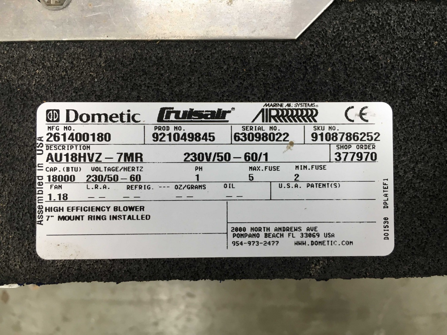 InTheBite – SOLD 2 Dometic Air Handlers 18,000 BTUS Lightly
